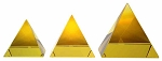 Crystal Pyramid-Yellow/Pyramide Amarillo (various sizes)