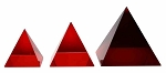 Crystal Pyramid-Red/Pyramide Rojo (various sizes)