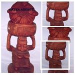 Igba Ifa Apetebi-Wood Container with Top for Babalawo 18