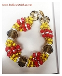 Ide de Gala for Oshun oro Oba Czech Glass Beads