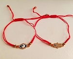 Good Luck Red String Bracelets Set with Evil Eye