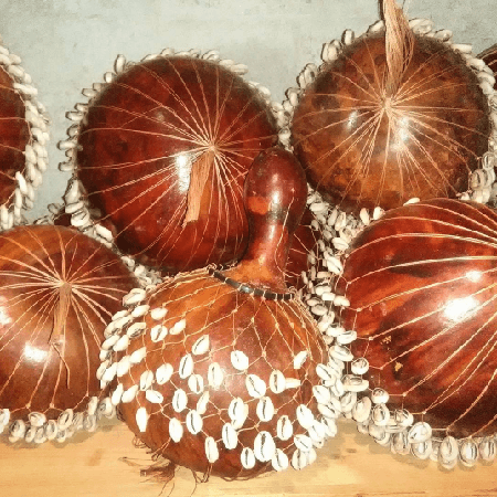 Chekere/Shekere with Cowrie (medium)