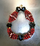 lde made of Glass Czech Beads/Ide de Mazo Cuentas Checas-Elegua