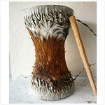 Authentic African Drum made of Goat Skin/Tambor de Chivo 12