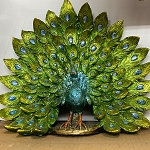 Gold Peacock Decorative Figurine