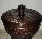 Dark Wood Pot for Chango/Batea Shango Madera Tallada Obscura