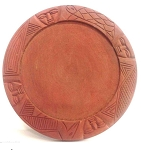 Carved Ifa divination Tray/Tablero de Ifa de Madera Tallada 16