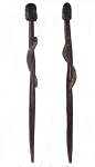 Dark Wood Cane for Egun/Baston de Muertos Con 2 Caras