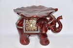 Pilon de Elefante con Hoja/Elephant Stand with Leaf Design 18