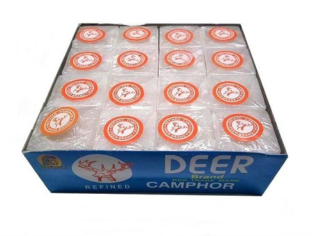 Camphor box of 64 pieces/ Alcanfor Caja de 64 piesas