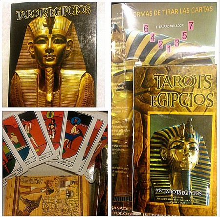 Tarots Egipcios/Egyptian Tarot Cards in Spanish text
