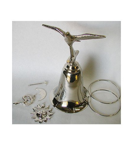 Tools Set for Obatala with Dove Bell/Herramientas de Obatala con Campana