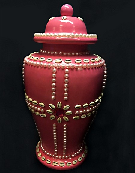 "Potiche de 18"" de Alto- Oba/Ceramic Pot for Oba"